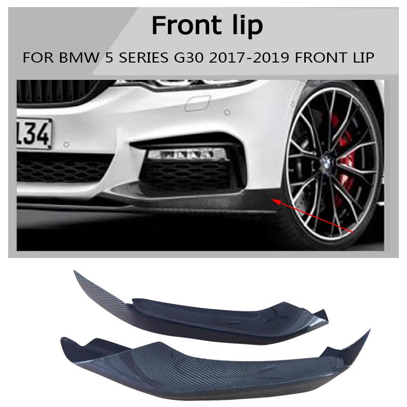 Car Styling g30 Carbon Fiber For BMW G30 2017 - UP M - Performance Front Upper Bumper Lip Splitter For BMW G30 2017 - UP цена и фото
