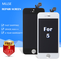 3 Pcs LCD Display For Iphone 5 5c 5s LCD Touch Screen Complete Digitizer Assembly Replacement