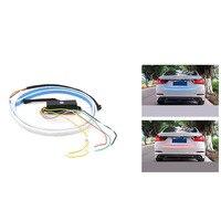 Otomobil Araba Çift Renk Akan Tipi LED Işık Şeridi Fren Koşu Bagaj Kapağı Lambaları