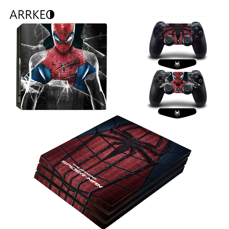 Video Games & Consoles Spiderman Vinyl Decal Skin Sticker For Sony Playstation 4 Pro Console Video Game Accessories