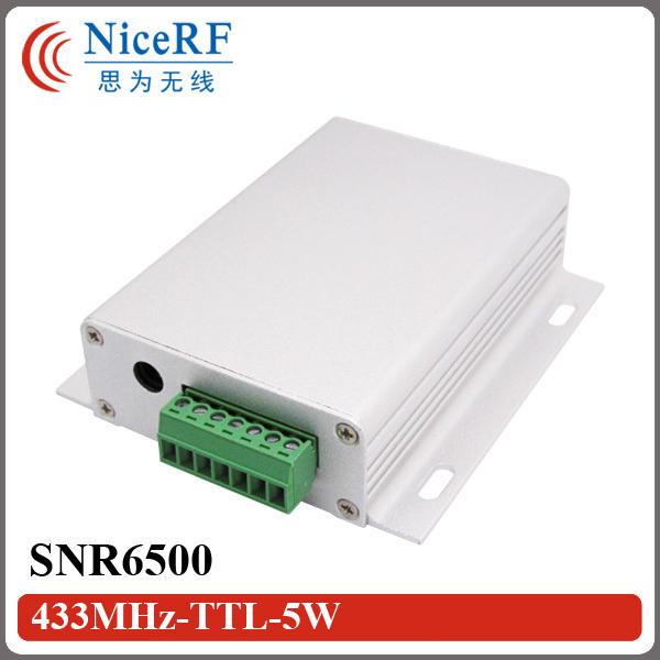 SNR6500 433 MHz/470 MHz 5 W Inalámbrico con Receptor TTL/RS232/RS485 Interfaz (No incluir antena)