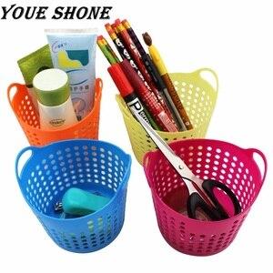 Desktop Storage Box Basket Debris Cosmetic Office Organizer Pen Holder Bathroom