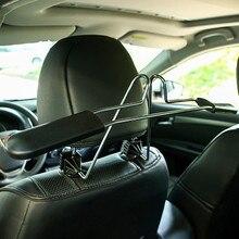 Универсальная вешалка в автомобиль из нержавеющей стали, подголовник на заднем сиденье, одежда, куртки, вешалка для костюмов, аксессуары для автомобиля, стиль