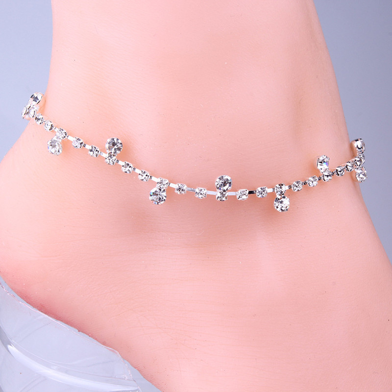 2017 Hot New Fashion Korean style Rhinestone Anklet Bracelets Anklets Small incense wind fashion jewelry Women's gifts