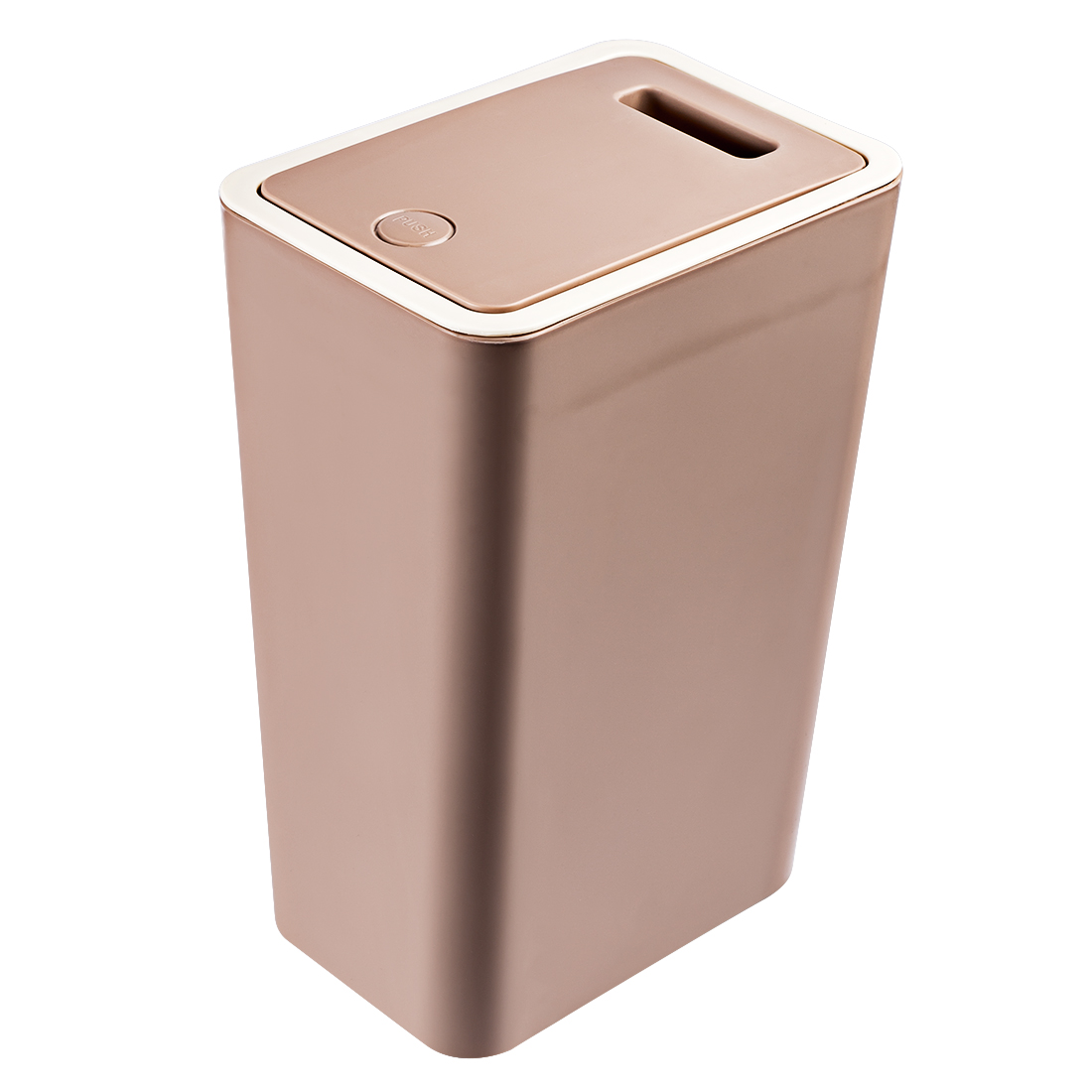 Copper Trash Can With Lid Hipsteen 12l Pressing Type Square Waste Bins Kitchen Wastebin Trash Can With Lid Household Garbage Cans For Home Office Bedroom