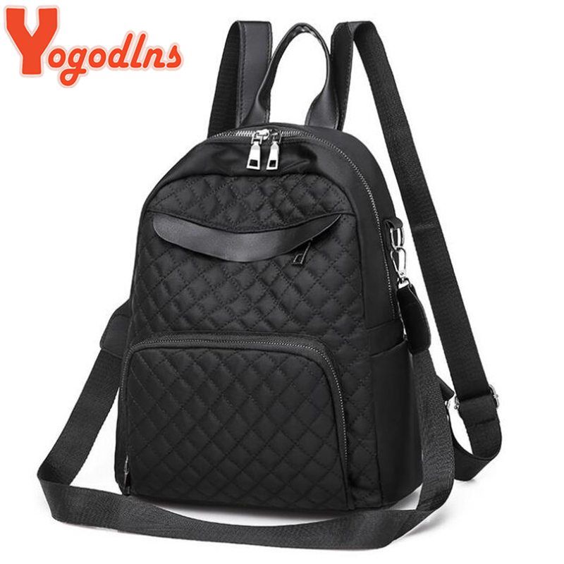 Yogodlns Quality Plaid Oxford Backpack For Women Teenage Girls Shoulder Bags Student Daypack Simple Large Capacity Backpacks
