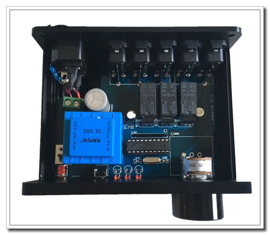 passive power pre amp three audio input two output adjustable volume ...