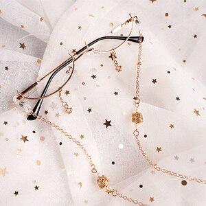 Image 3 - Ins cadres décoratifs, demi boîte, sans lentille, pendentif étoile, chaîne concave, verres lolita, pour hommes et femmes