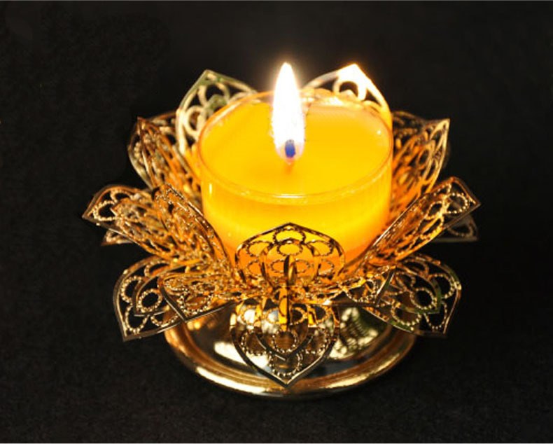 For the Buddha lamp, butter lamp holder, golden filigree lotus ...