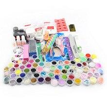 Acrylic Powder Liquid Brush Glitter Clipper Primer File Nail Art Tips Tools 28 in 1 Set  HB88