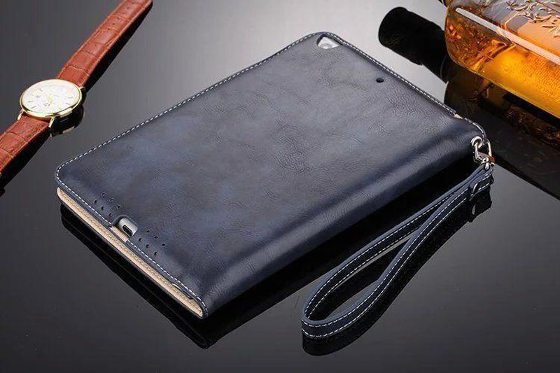 Luxury Leather Case For iPad Air 2 Air 2 Hand Holder Strap Business Book Cover For Apple ipad 2017 2018 Smart Protective Case (9)