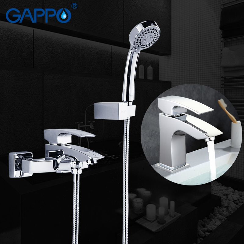 GAPPO bathroom faucet shower system wall mounted bathtub faucet basin faucet chrome tap bathroom wash basin mixer set стоимость