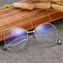 Clear Glasses Spectacles Vintage Men Gold Rimmed Glasses Optical Decorative Eyeglasses Frame Women Clear Lens Transparent Oculos