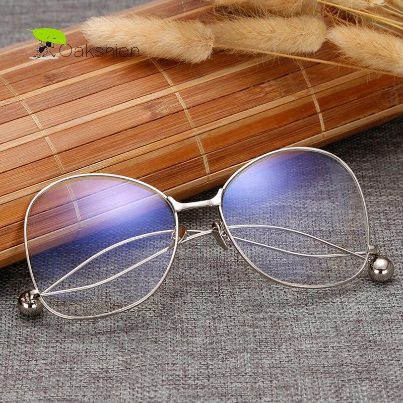 Klare Gläser Brillen Vintage Männer Gold Brille Optische Dekorative ...