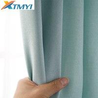 Искусственный плотные льняные шторы для Гостиная современные шторы для спальни для шторы в спальню
