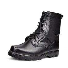 Для мужчин Военное Дело армейские Сапоги и ботинки для девочек Сталь носком кожаные черные прочные армейские ботинки Для мужчин; Рабочая обувь дезерты Обувь