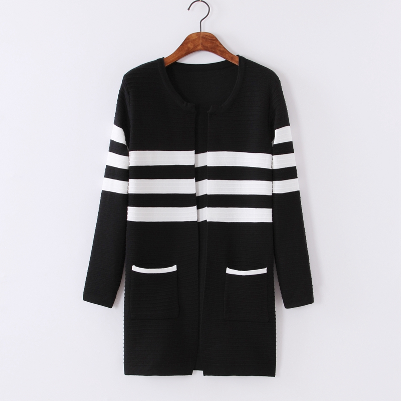 2018 Autumn New Casual Long Coat Sweaters Korean Fashion Thin Loose Knitted Women Jumpers Winter Open Stitch O-neck Cardigans