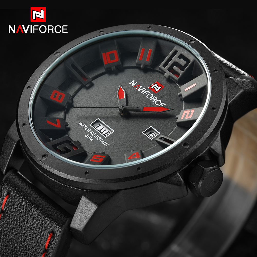 NEW Luxury Brand Sports Watches Men Quartz Analog 3D Dial Date Clock Man Leather Strap Army Military Watch Relogios Masculino weide new men quartz casual watch army military sports watch waterproof back light men watches alarm clock multiple time zone