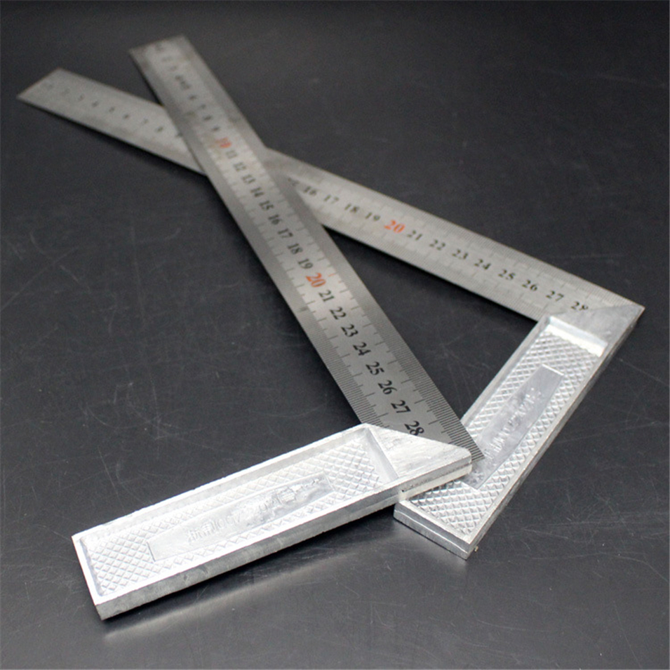 New Metal Steel Engineers Try Square Set Wood Measuring Tool Right Angle Ruler 90 Degrees Measurement Instruments 25cm/30cm