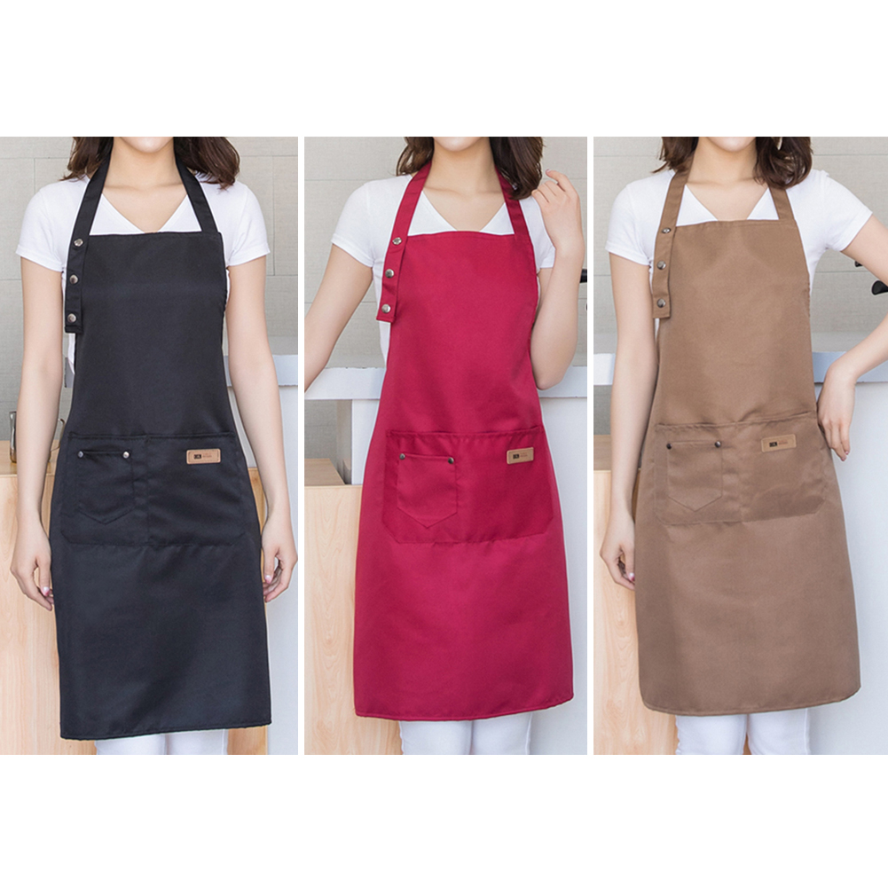 New Cotton Aprons фартук Canvas Pockets Baking Chefs Kitchen Cooking Apron фартук кухонный Chefs With Hat Household Merchandises
