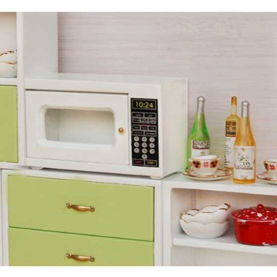 New Microwave 1: 12 Scale miniature for doll house (white)