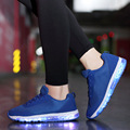 Women LED Shoes Light USB Charge Shoes For Adults Light Up Women Casual Shoes Trainers Led Basket Christmas Party Shoes