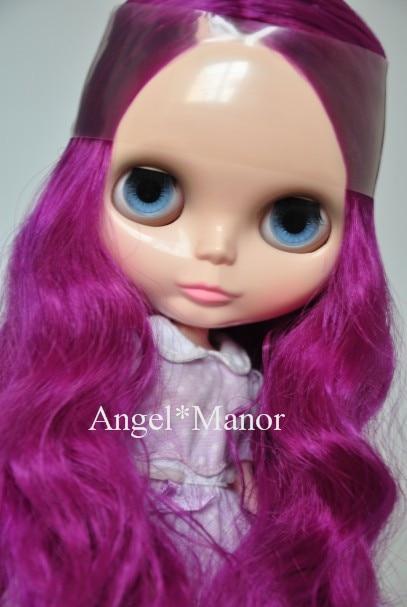 Free shipping Nude Blyth Doll, purple6 hair, big eye doll,For Girl's Gift,PJZ006 free shipping nude blyth doll black5 hair big eye doll for girl s gift pjb005