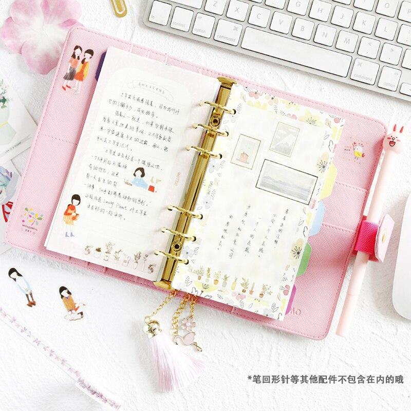 K & KBOOK Kawaii Blume Leder Notebook A5 A6 Spiral Notebook ...