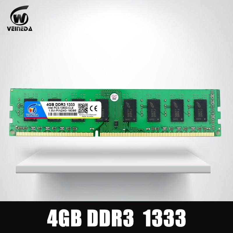 Dimm Ram DDR3 4 gb 1333 Mhz ddr 3 Memoria PC3-pin per Tutti AMD Intel Desktop di Vita Di Garanzia