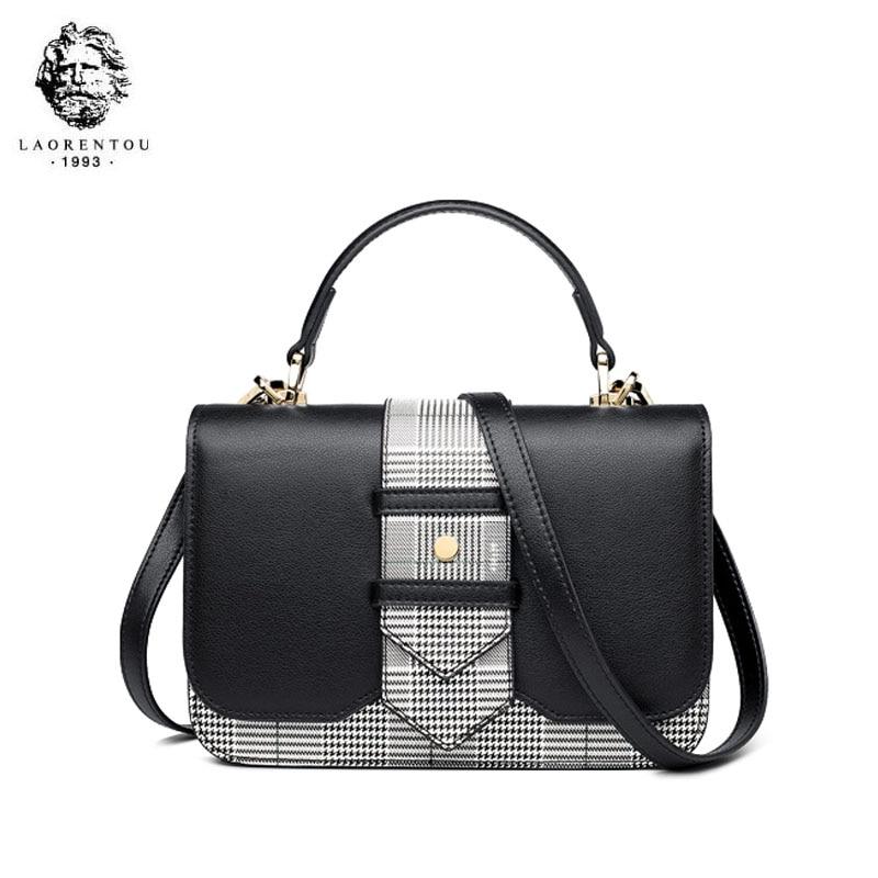 LAORENTOU bolso de marca de lujo de alta calidad 2019 nuevo bolso de hombro de moda casual salvaje portátil bolso de mensajero de cuero - 3