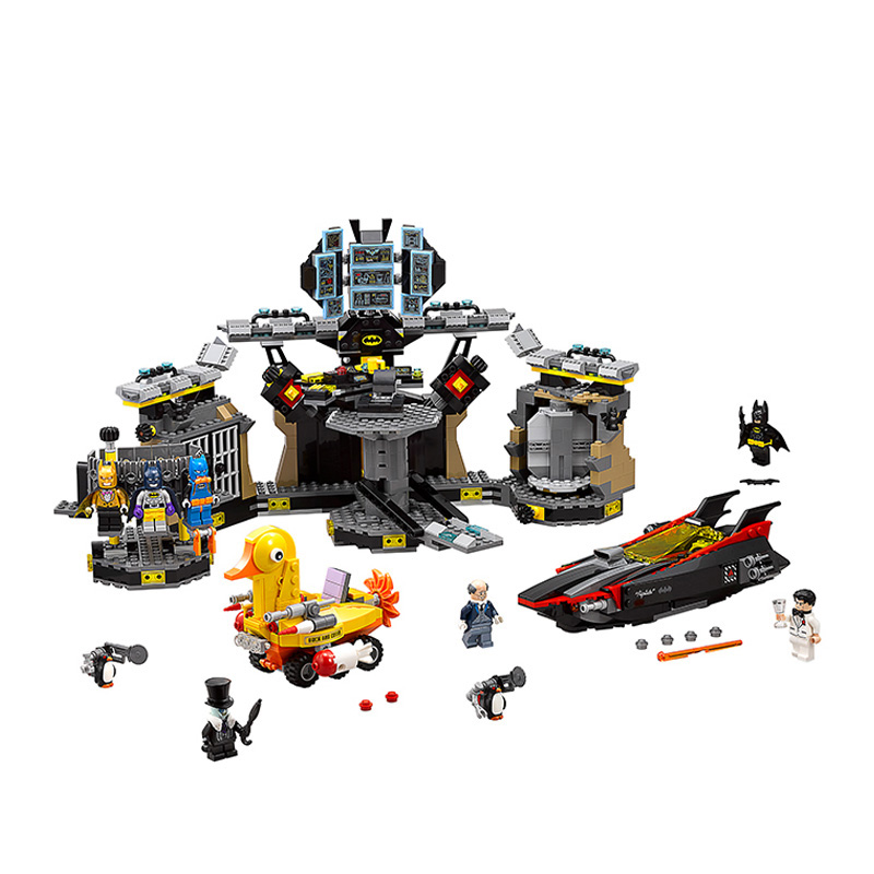 Batman 07052 Genuine Movie Series Compatible Legoed Blocks 70909 The Batcave Break-in Building Blocks Bricks Toys For Kids Gifts new 1628pcs lepin 07055 genuine series batman movie arkham asylum building blocks bricks toys with 70912 puzzele gift for kids