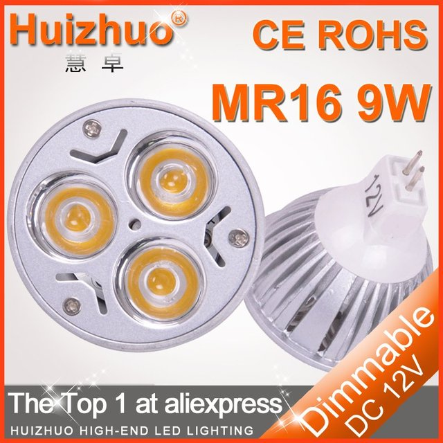 Holiday sale 20X High power  MR16 3x3W 9W 12V Dimmable Light Bulb lamp CE&ROHS LED Spotlight Bulb