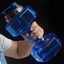 Гантели пластиковые большой емкости для тренажерного зала, спорта, воды на открытом воздухе, фитнеса, велосипеда, кемпинга, велоспорта, бутылки для фитнеса для мужчин