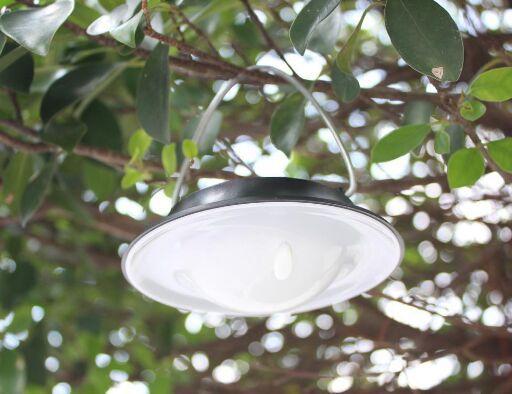 Hanging Solar Garden Light   UFO Shaped Solar Lights, Solar Tree Lighting  ...