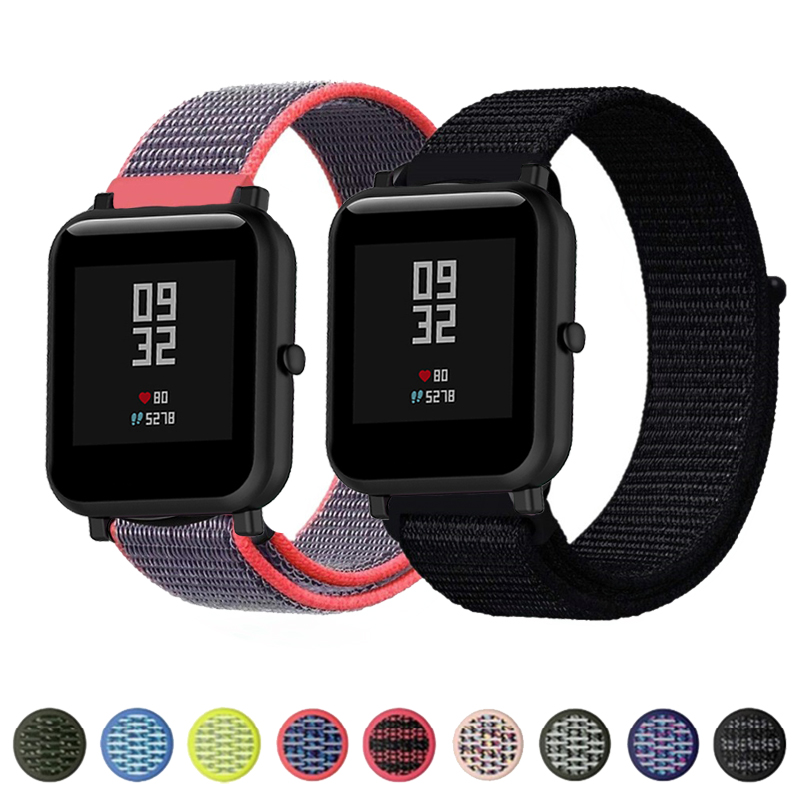 Nylon Loop Band For Amazfit Bip Strap Bracelet Sports Breathable Wristband For Huami Amazfit Bip Smart Watch Accessories