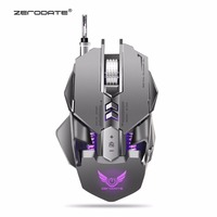 Wired USB Gaming Mouse Mechanical Macros Define Support with 4000DPI adjustable Cool Light for Laptop Desktop pc computer X7