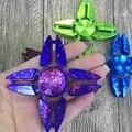 2017 Cool Tri Fidget Spinner Plastic Toy Hand Finger Handspinner Gyroscope Spin Stress Spinner Funny Toys For Children KidsL55