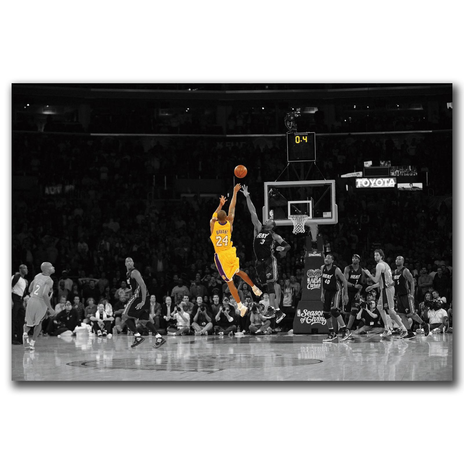 Lebron James Dunks Basketball Silk Canvas Poster 12x18 24x36 inch Wall Art
