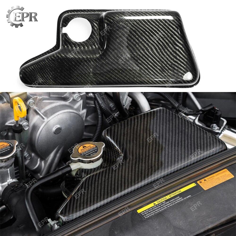 Garniture de couvercle de réservoir d'expansion de liquide de refroidissement en Fiber de carbone pour Nissan Skyline R35 GTR pièce de réglage du Kit de carrosserie pour R35 GTR couvercle de liquide de refroidissement en carbone