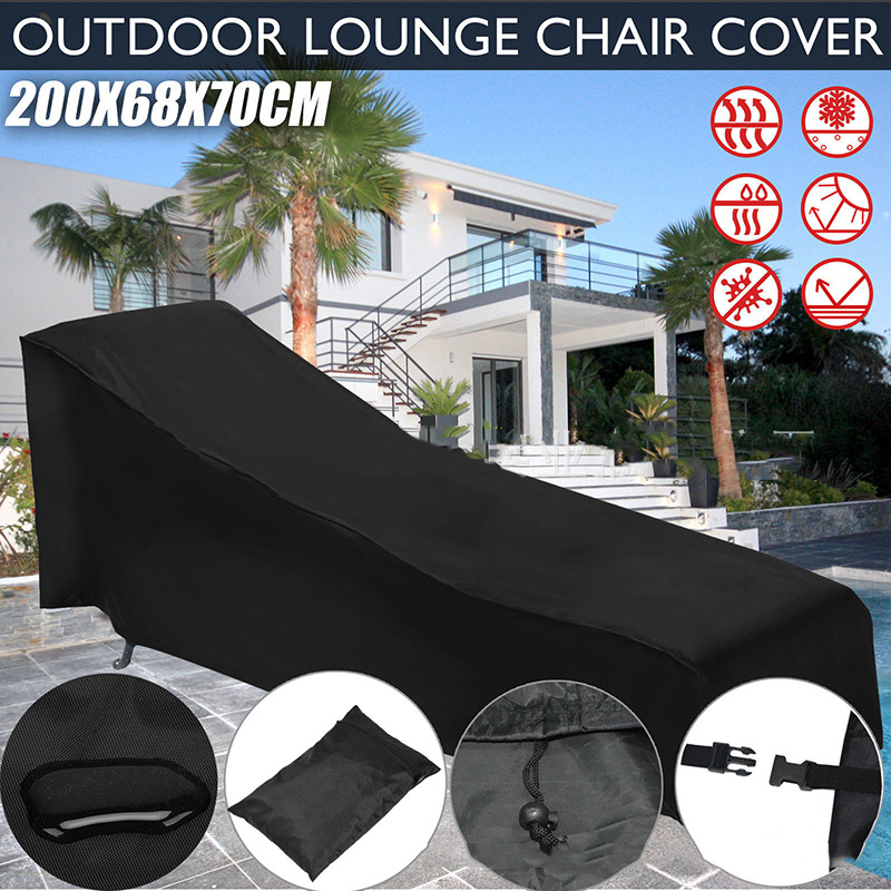 New Black Color Waterproof Lounge Cover Outdoor Garden Lounge Patio Chair Protector Wrap Pockets Protector Cover Slipcover ReverNew Black Color Waterproof Lounge Cover Outdoor Garden Lounge Patio Chair Protector Wrap Pockets Protector Cover Slipcover Rever