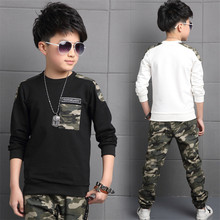 2018 Spring Autumn Boys Tracksuit Camouflage Clothing Sets For Kids Children Suits Long Sleeve +Pants Suit 2PC Ages Of 4-13Years