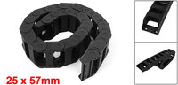UXCELL Newest 25x57mm Plastic Drag Chain Cable Wire Carrier 1M/ 3Ft Length Black Transmission Chains