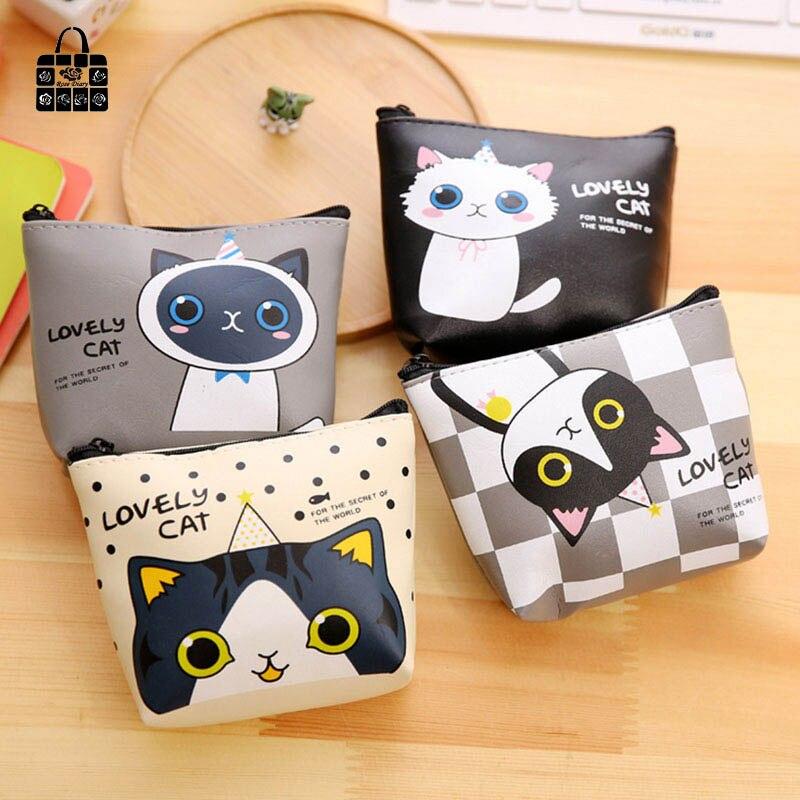 1 pcs RoseDiary Cartoon cat pu Leather Zero font b wallet b font font b children