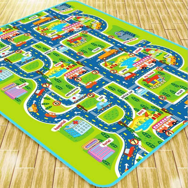 Attractive City Road Carpets For Children Rug Puzzle Play Mat Kids Toys Rug Developing  Play Mats(