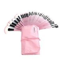 1 conjunto Conjunto de Multi-cor Maquillage Maquiagem Suave Escovas Escovas de Beleza Melhor Presente Escova Kit + Bag Bolsa