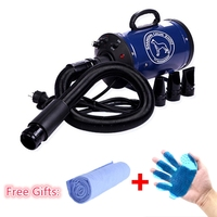 Cheap Dog Grooming Dryer bs2400 Pet Hair Dryer Blower 220v/110v 2400w Eu Plug Pink Blue Color fast to russian