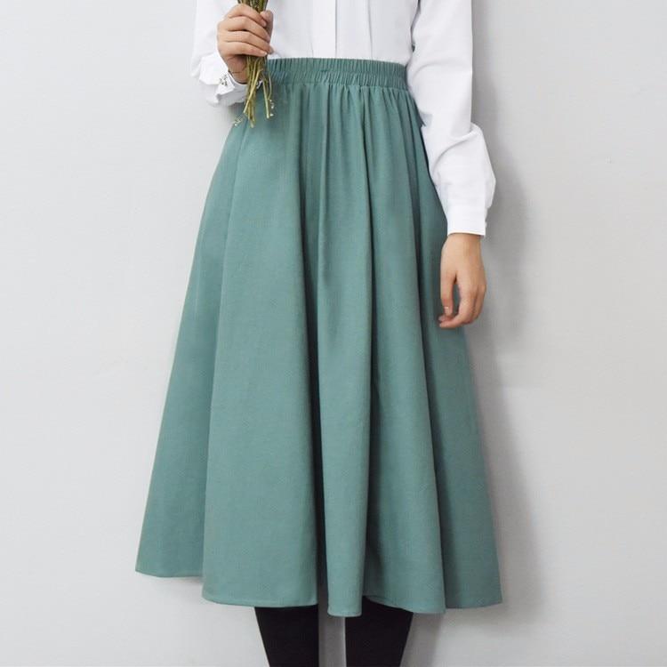 2016 summer saia solid linen skirt maxi skirts