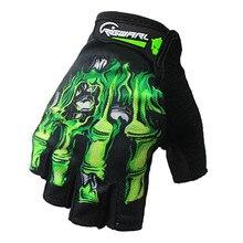 Rigwarl 1Pair Half Finger Cycling Gloves Gel Pad Breathable Motorcycle MTB Road Bike Men Women Sports Bicycle