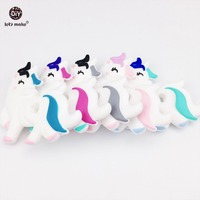 Let S Make Silicone Unicorn 5pcs Baby Teether Lovely Diy Teething Necklace Accessories Food Grade Silicone