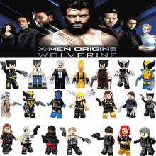 Legoing Marvel Wolverine Jean Grey Summers Action Figures Deadpool X-Men Super Hero Legoings Building Blocks Toys for Children(China)